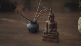 Businessmans desk decoration with incense bowl.