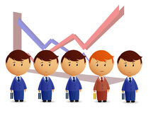 Businessmans with graph on background Royalty Free Stock Image