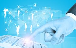 Businessmans hand and business people Stock Image