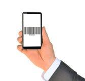Businessmans hand holding smartphone Stock Image