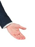 Businessmans hand presenting Stock Photo