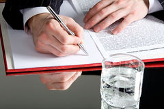 Businessman�s hands Royalty Free Stock Image