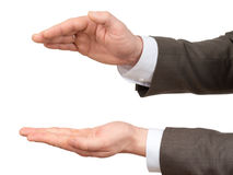 Businessmans hands with big empty space Royalty Free Stock Image