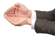Businessmans hands with empty space Stock Photography