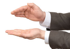 Businessmans hands with empty space on white Stock Images