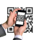 Businessmans hands holding smartphone Royalty Free Stock Photo
