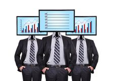 Businessmans and monitor Royalty Free Stock Image