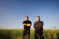 Businessmans nella violenza Fotografia Stock