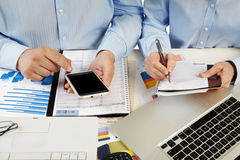 Businessmans in the office Stock Image