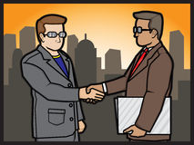 Businessmans shake hand Royalty Free Stock Photos