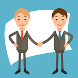 businessmans in the style of  flat design .Vec Royalty Free Stock Images