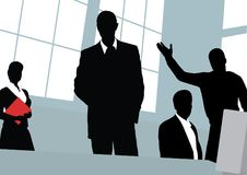 Businessmen. The Office. Blackenning series Royalty Free Stock Photography