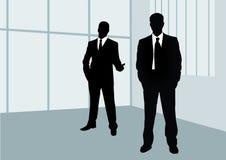 Businessmen. The Office. Blackenning series Stock Image