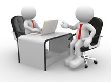 Businessmen. 3d people - men , person at a office. Business partners Royalty Free Stock Photo