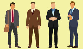 Businessmen. Four professional businessmen wearing suits Royalty Free Stock Photos