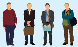 Businessmen. Four Businessmen carrying a bag Stock Image