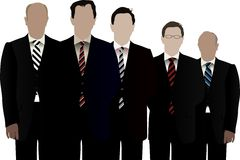Businessmen. Five  businessmen working as a team Stock Image