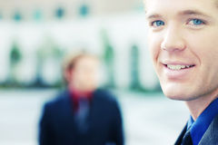 Businessmen. Two businessmen standing in full suits Stock Image