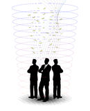 Businessmen in an abstract tuft. On the image businessmen in an abstract tuft silhouettes are presented Stock Images