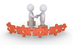 Businessmen agreement for solution Stock Photo