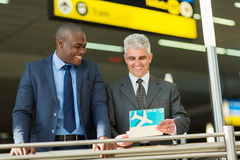 Businessmen air ticket Royalty Free Stock Image
