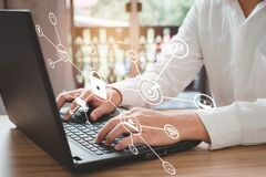 Free Businessmen Are Using A Laptop To Enter Passwords, Access Security, Account Information, Privacy, Business Finance Information. Royalty Free Stock Photo - 217811905