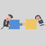 Businessmen arguing. Puzzles don´t fit. Businessmen arguing. Puzzles don´t fit.nnEasy combine! 4000 x 4000 / 300 dpi / Isolate. Custom 3d illustration Stock Images
