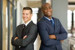 Businessmen arms crossed Stock Photos