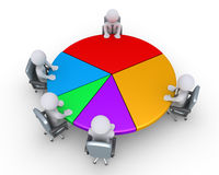 Businessmen around pie chart Royalty Free Stock Image