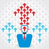 Businessmen arrow move up Stock Image