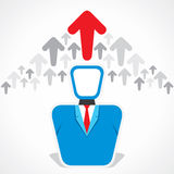 Businessmen arrow move up Royalty Free Stock Images
