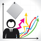Businessmen and background with market graph Stock Image