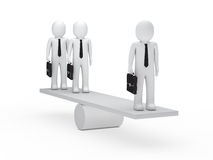 Businessmen balance on seesaw Royalty Free Stock Images
