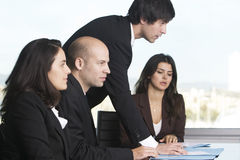 Businessmen bargaining