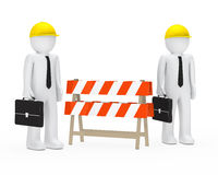 Businessmen barrier Royalty Free Stock Photos