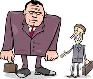 Businessmen big and thin cartoon Royalty Free Stock Photo