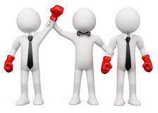 Businessmen boxing Stock Images