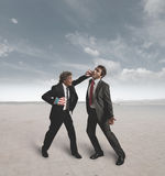 Businessmen and boxing challenge Royalty Free Stock Photo