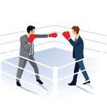 Businessmen boxing  Stock Image