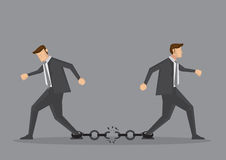 Businessmen Breaking Chain Link Vector Illustration Royalty Free Stock Photo