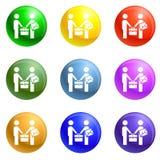 Businessmen bribery icons set vector stock illustration