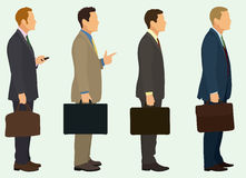 Businessmen with Briefcase Royalty Free Stock Photos