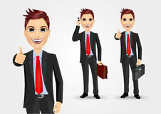 Businessmen with briefcases Royalty Free Stock Images