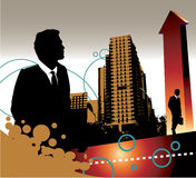 Businessmen and buildings Stock Photo