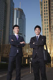 Businessmen in Business District Royalty Free Stock Images