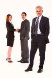 Businessmen and businesswoman Stock Photos