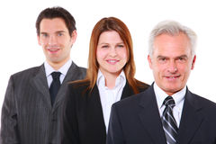 Businessmen and businesswoman Royalty Free Stock Images