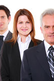 Businessmen and businesswoman Stock Images
