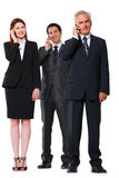 Businessmen and businesswoman Stock Photo