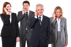 Businessmen and businesswoman Royalty Free Stock Photos